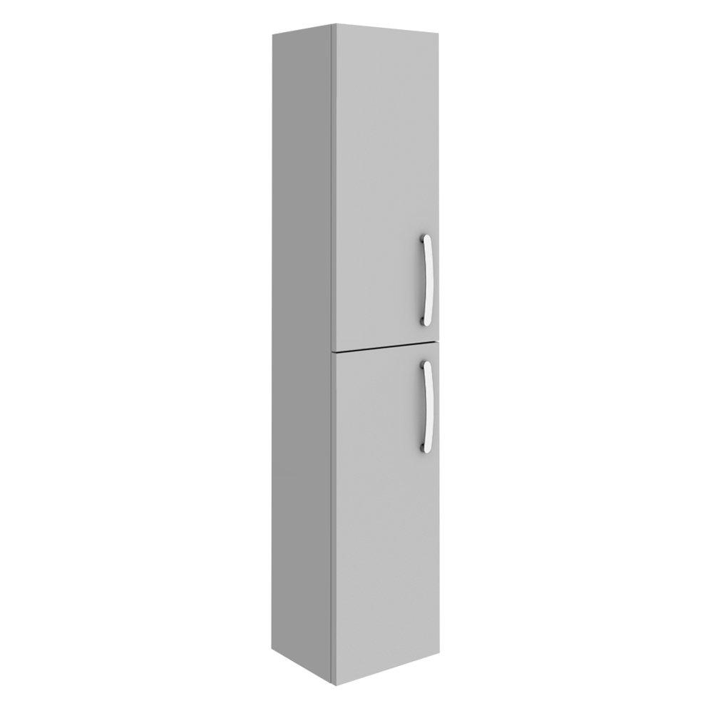 Brooklyn Grey Mist Wall Hung 2 Door Tall Storage Cabinet