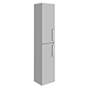 Brooklyn Grey Mist Wall Hung 2 Door Tall Storage Cabinet profile small image view 1