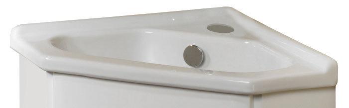 Roper Rhodes Valencia Corner Ceramic Basin - BTC600W Large Image