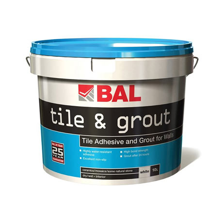 BAL 2.5 Ltr Tile Adhesive & Grout for Walls