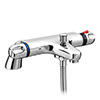 Coral Modern Thermostatic Bath Shower Mixer - Bottom Outlet - BTMV01 Small Image