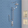 Belmont Traditional Shower Package - Concealed Valve with Fixed Head & Slider Kit profile small image view 1