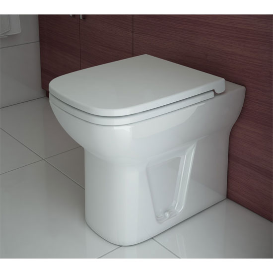 Vitra - S20 Model Back to Wall Toilet Pan - with 2 x Seat Options profile large image view 2