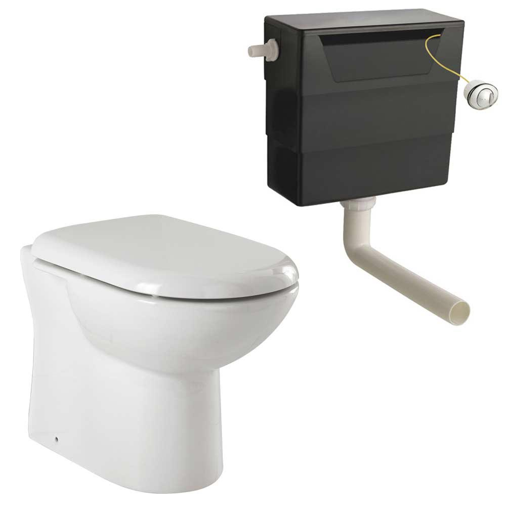 Back To Wall Toilet with Soft Close Seat + Concealed Cistern Large Image