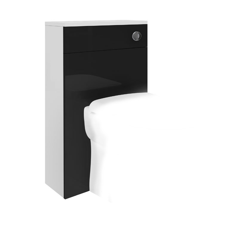 Ultra 500 x 200mm Back to Wall WC Unit - High Gloss Black - BTW018 Large Image