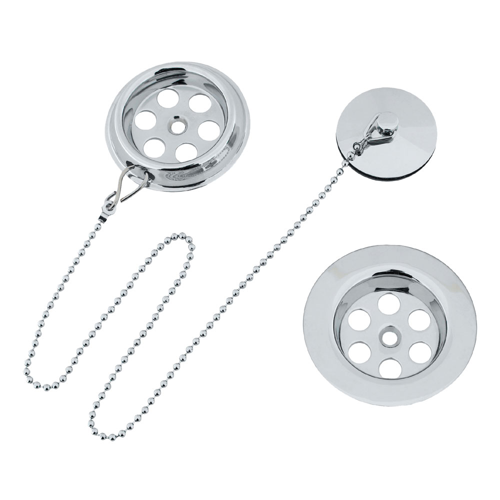 Crosswater - Standard Bath Waste with Plug and Chain - BTW0221C Large Image