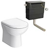 Back To Wall Toilet with Soft Close Seat + Concealed Cistern Small Image