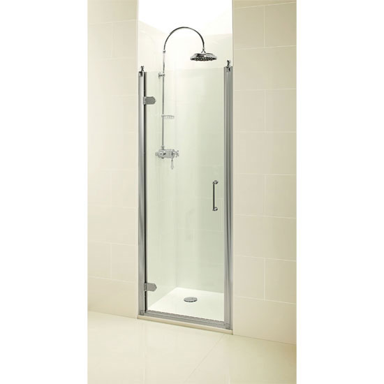 Burlington Traditional Recessed Hinged Shower Door - 3 Size Options Profile Large Image