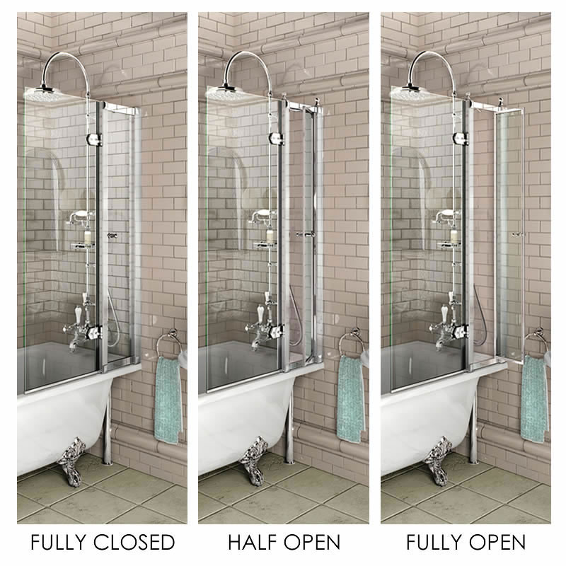 Burlington Bath Screen with Access Panel - 850 x 1450mm - BU44 Profile Large Image