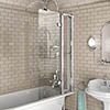 Burlington Bath Screen with Access Panel - 850 x 1450mm - BU44 profile small image view 1