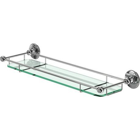 Burlington - Glass Shelf with Chrome Guard Rail - A18CHR