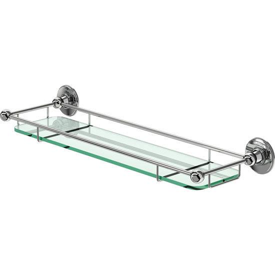 Burlington - Glass Shelf with Chrome Guard Rail - A18CHR Large Image