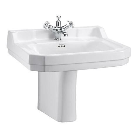 Burlington Edwardian Large Basin and Semi Pedestal - Various Tap Hole Options