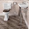 Burlington Cloakroom Slimline Toilet + Edwardian Basin inc. Wash Stand profile small image view 1