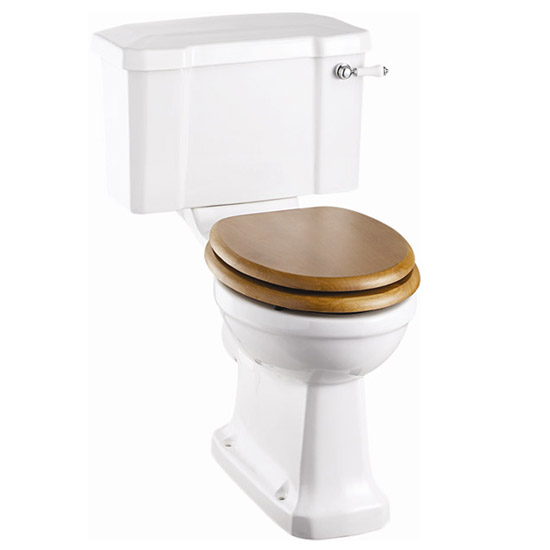 Burlington Close Coupled WC Inc. Edwardian Medium Basin & Pedestal - Various Tap Hole Options profile large image view 2