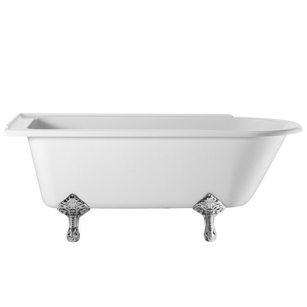 Burlington - Hampton 1700mm Showering Bath with Legs - Left Hand Option Large Image