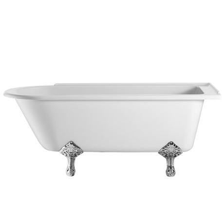 Burlington - Hampton 1500mm Showering Bath with Legs - Right Hand Option