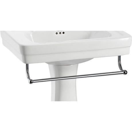 Burlington - 58cm Medium Add On Towel Rail - For Use with Contemporary Basin - T2