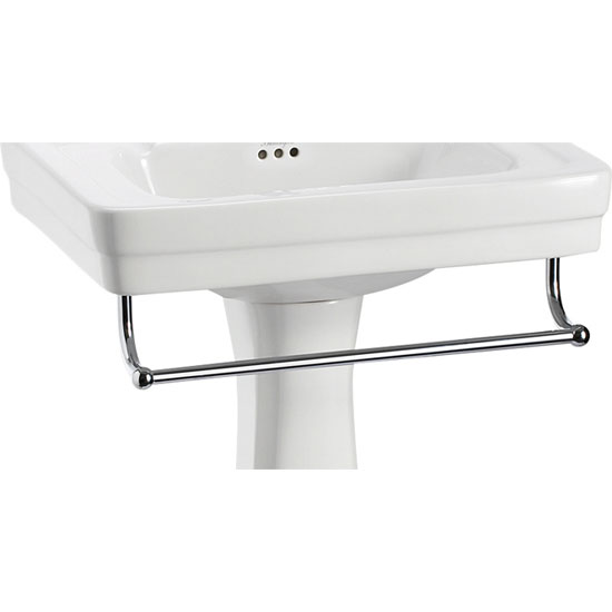 Burlington - 58cm Medium Add On Towel Rail - For Use with Contemporary Basin - T2 profile large image view 1