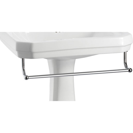 Burlington - Large Add On Towel Rail - For Selected Basin/Pedestal Sets - T3 Large Image