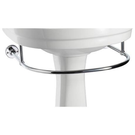 Burlington - Round Medium Add On Towel Rail - For Selected Basin/Pedestal Sets - T4