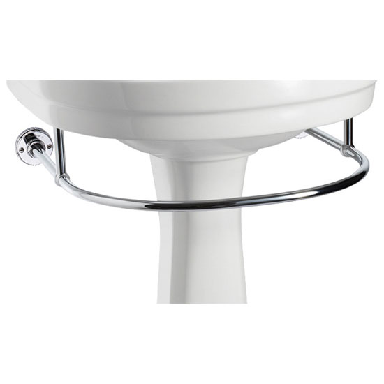 Burlington - Round Medium Add On Towel Rail - For Selected Basin/Pedestal Sets - T4 profile large image view 1