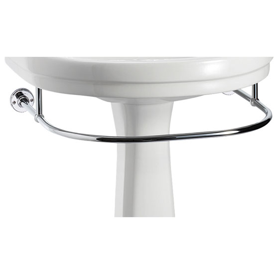 Burlington - Round Large Add On Towel Rail - For Selected Basin/Pedestal Sets - T5 Large Image