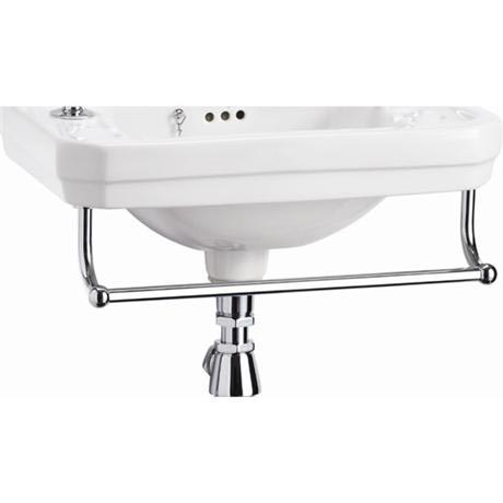 Burlington Add On Towel Rail for Square Cloakroom Basins - T6