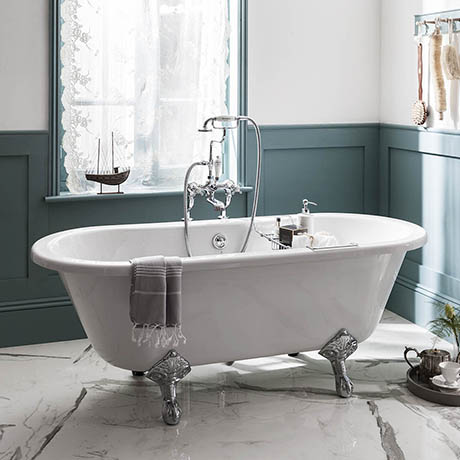 Burlington Windsor Double Ended 1700mm Freestanding Bath + Legs