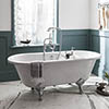 Burlington Windsor Double Ended 1700mm Freestanding Bath + Legs profile small image view 1