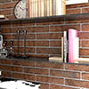 Burford Brown Brick Effect Wall Tiles - 250 x 60mm Small Image