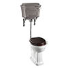 Burlington Standard Low Level WC with Chrome Lever Cistern profile small image view 1