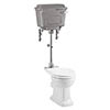 Burlington Standard Medium Level WC with Chrome Lever Cistern profile small image view 1