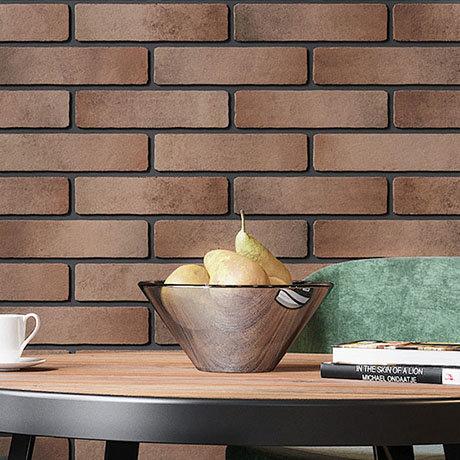 Burford Orange Brick Effect Wall Tiles - 250 x 60mm