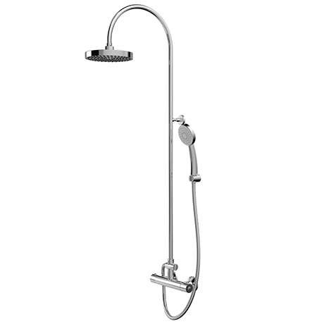 Bristan Buzz Cool Touch Bar Shower Mixer with Rigid Riser Kit - Chrome