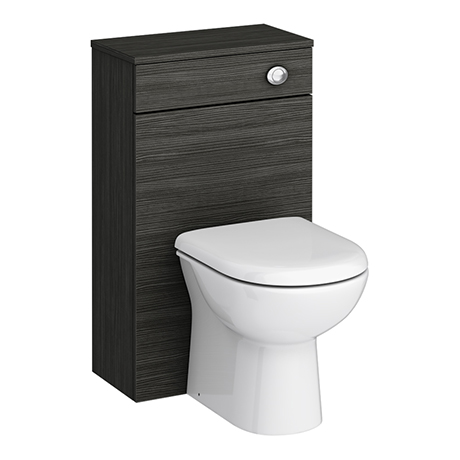 Brooklyn WC Unit with Cistern - Hacienda Black - 500mm