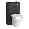 Brooklyn WC Unit with Cistern - Hacienda Black - 500mm profile small image view 1