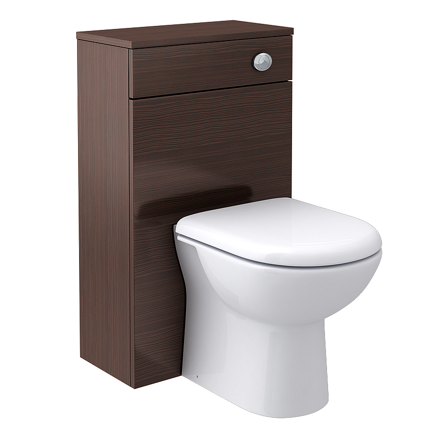 Brooklyn WC Unit with Cistern - Brown Avola - 500mm Large Image