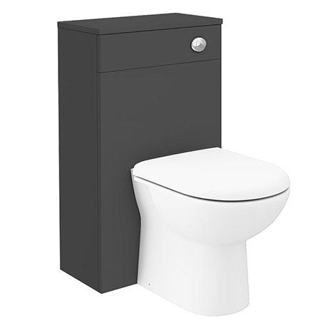 Brooklyn WC Unit with Cistern - Gloss Grey - 500mm