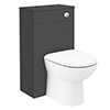Brooklyn WC Unit with Cistern - Gloss Grey - 500mm profile small image view 1