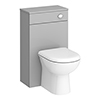 Brooklyn 500mm Grey Mist WC Unit with Cistern profile small image view 1