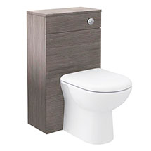 Brooklyn WC Unit with Cistern - Grey Avola - 500mm Medium Image