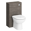 Brooklyn WC Unit with Cistern - Grey Avola - 500mm profile small image view 1