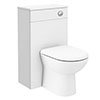 Brooklyn WC Unit with Cistern - White Gloss - 500mm profile small image view 1