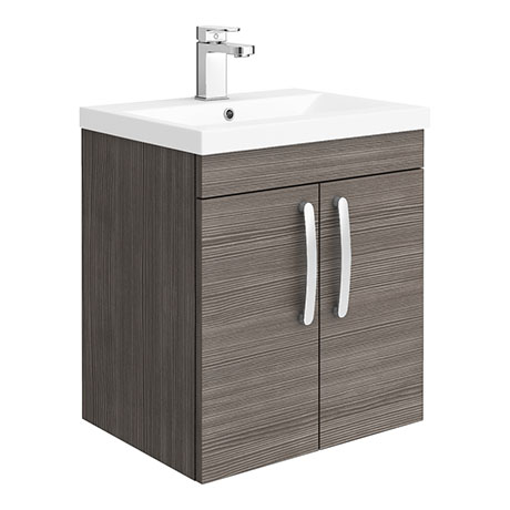 Brooklyn 500mm Grey Avola 2 Door Wall Hung Vanity Unit