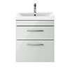 Brooklyn 500mm Grey Mist 2 Drawer Wall Hung Vanity Unit profile small image view 1