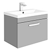 Brooklyn 600mm Grey Mist 1 Drawer Wall Hung Vanity Unit profile small image view 1