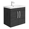 Brooklyn 600mm Black 2 Door Wall Hung Vanity Unit profile small image view 1