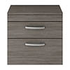 Brooklyn 605mm Grey Avola Worktop & Double Drawer Wall Hung Cabinet profile small image view 1