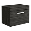 Brooklyn 605mm Black Worktop & Single Drawer Wall Hung Cabinet profile small image view 1